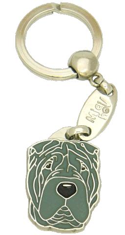 SHAR PEI BLUE - pet ID tag, dog ID tags, pet tags, personalized pet tags MjavHov - engraved pet tags online